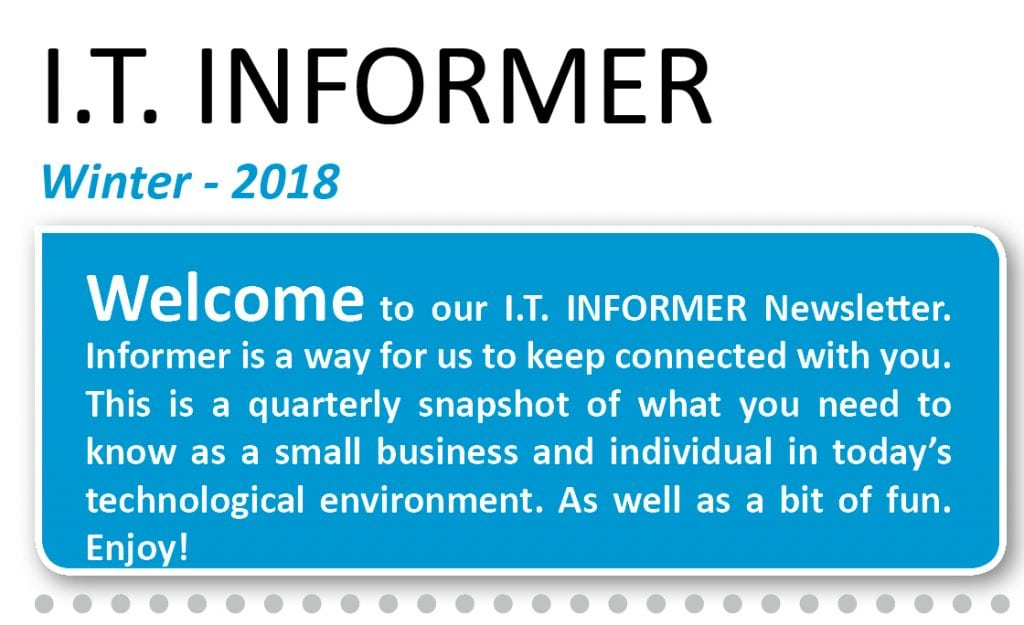 IT Informer - Winter Newsletter -